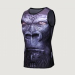 3D Sleeveless Rash Guard